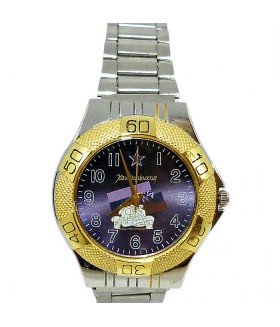 Часы командирские с металлическим браслетом серебристые
