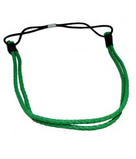 Ободок для греческих причесок двойной зеленый