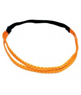 Ободок для греческих причесок двойной оранжевый