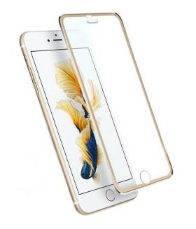 Защитное стекло на IPHONE (АЙФОН) 7 с золотой рамкой