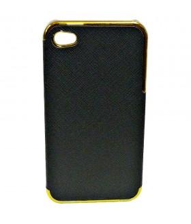 Чехол для iPhone (айфон) 4/4s кожаный черный