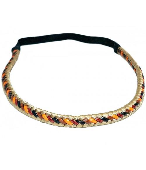 Ободок для греческих причесок косичка трехцветная