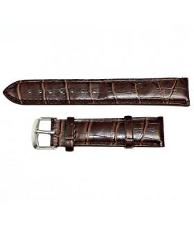 Ремешок для часов кожаный коричневого цвета