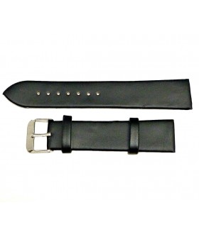 Ремешок для часов кожаный черный