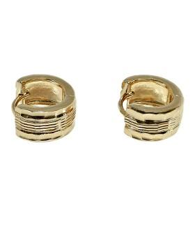 Серьги позолоченные кольца конго из медицинской стали
