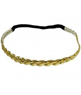 Ободок для греческих причесок золотого цвета