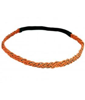 Ободок для греческих причесок оранжевого цвета