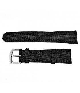 Ремешок для часов из натуральной кожи и кордура черный