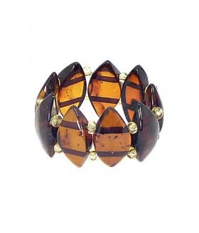 Кольцо из натурального янтаря