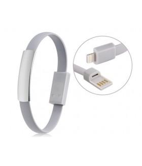 Кабель браслет USB для IPHONE (АЙФОН) 5/5S/5SE/5C/6/6s/7 белый