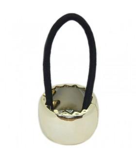 Резинка для волос с кольцом золотистая