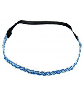 Ободок для греческих причесок сине-серебристый