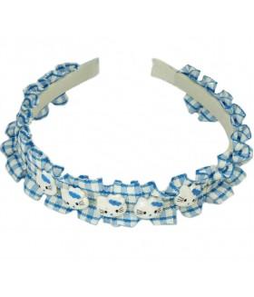 Ободок для волос детский бело-голубой