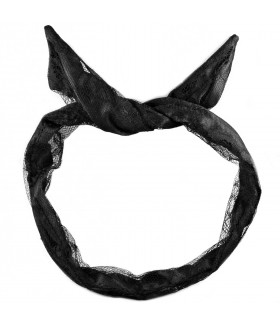 Ободок для волос с ушками черный