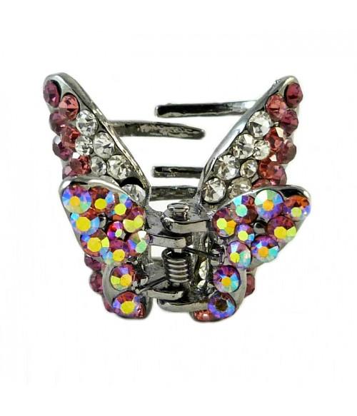 Крабик для волос бабочка с кристаллами