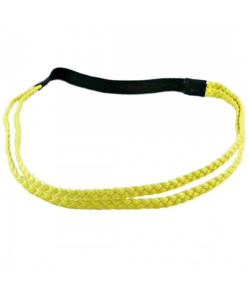 Ободок для греческих причесок двойной желтый
