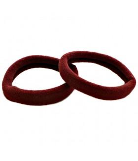 Резинка для волос бордового цвета набор 2 штуки