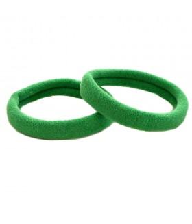 Резинка для волос зеленого цвета набор 2 штуки