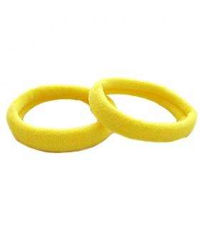 Резинка для волос желтого цвета набор 2 штуки