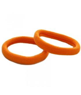 Резинка для волос оранжевого цвета набор 2 штуки
