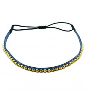 Ободок для греческих причесок синий с шипами