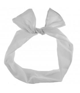 Ободок для волос с ушками белого цвета