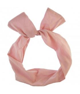 Ободок для волос с ушками розовый
