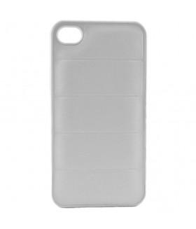 Чехол для iPhone (айфон) 4/4s кожаный белого цвета