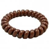 Резинка для волос коричневого цвета силиконовая