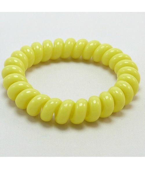 Резинка для волос желтого цвета силиконовая