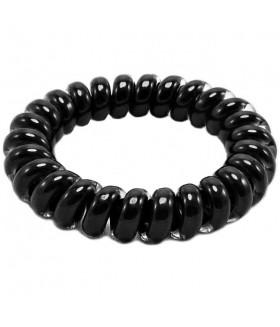 Резинка для волос черного цвета силиконовая