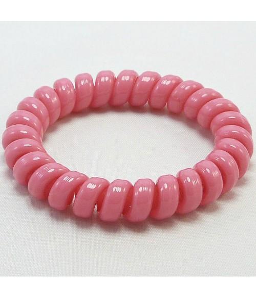 Резинка для волос из силикона розового цвета