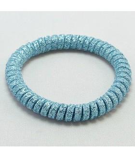 Резинка для волос голубая силиконовая