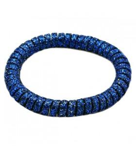 Резинка для волос синего цвета силиконовая