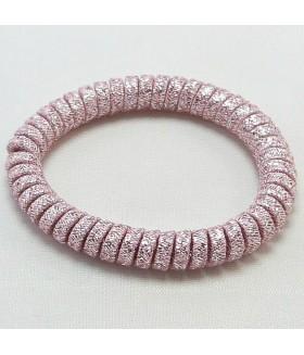 Резинка для волос розовая силиконовая