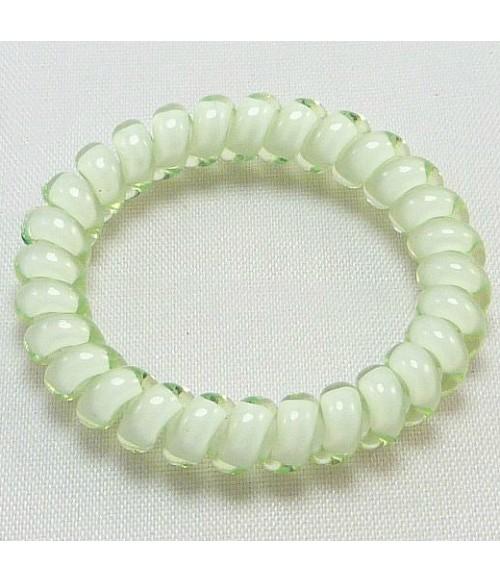 Резинка для волос светло-зеленая из силикона