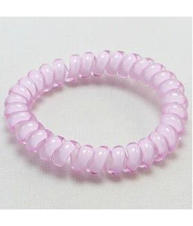 Резинка для волос розовая из силикона