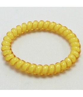 Резинка для волос из силикона желтого цвета