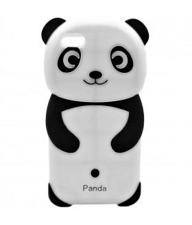 Чехол для iPhone (Айфон) 5/5s/5se силиконовый панда черно-белый