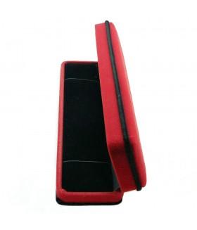 Подарочная коробка бархатная красно-черная