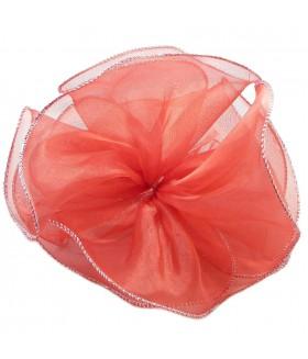 Резинка для волос с красным большим бантом