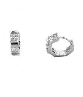 Серьги маленькие кольца из медицинской стали с цирконами