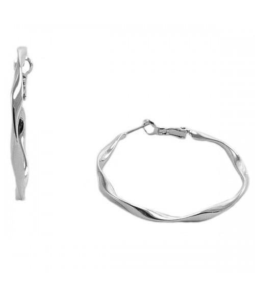 Серьги крупные кольца из медицинской стали 4 см