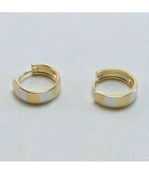 Серьги позолоченные кольца конго из стали