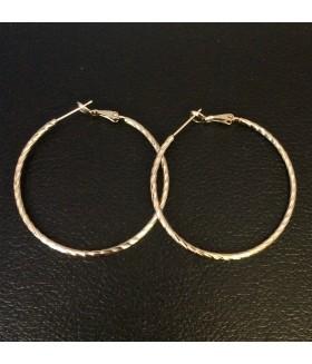 Серьги позолоченные кольца из медицинской стали 3,9 см