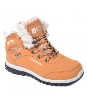 Детские ботинки для мальчиков SITUO зимние светло-коричневые