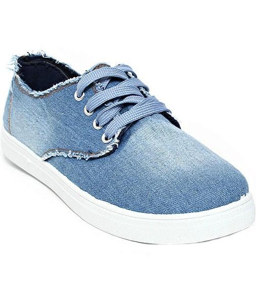 Кеды Лотос джинсовые голубые