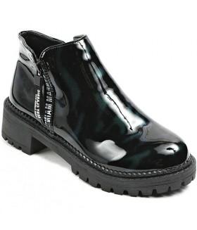 Ботинки женские EIFFELLO демисезонные черно-зеленые