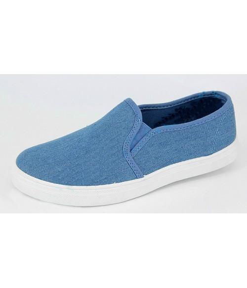 Слипоны Лотос джинсовые голубые