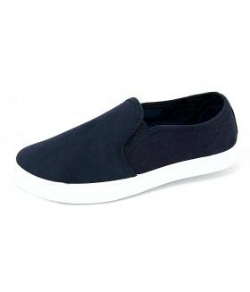 Кеды/слипоны  женские Лотос джинсовые темно-синие